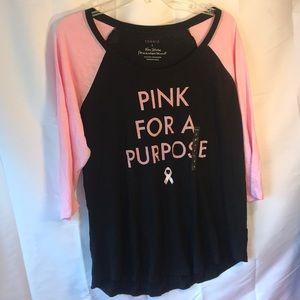 Torrid Pink for a Purpose Baseball Shirt 2X